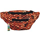 Dragon Scale Fanny Pack, Khaleesi Boho Chic w/Hidden Pocket & Handmade in Guatemala (Drogon)