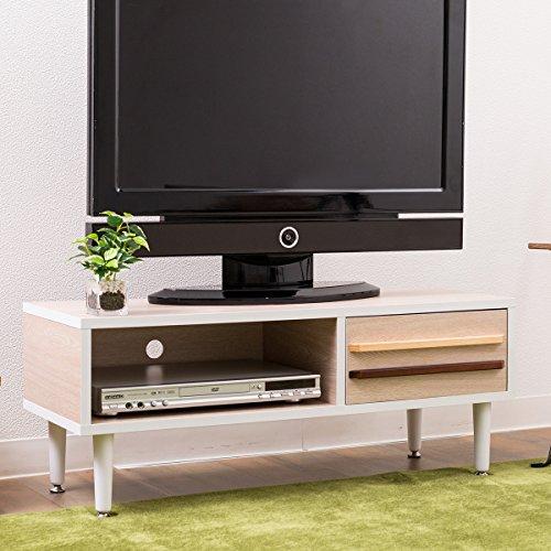 【北欧風90cm幅ロータイプテレビボード】シンプルなデザイン&あたたかみある北欧モダン風ホワイトウォッシュ色
