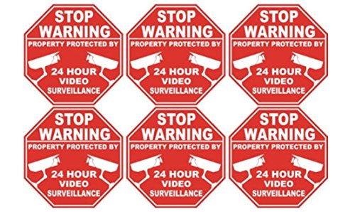 6-pcs-primo-popular-security-sticker-stop-sign-anti-thief-video-warning-being-watched-size-3-x-3