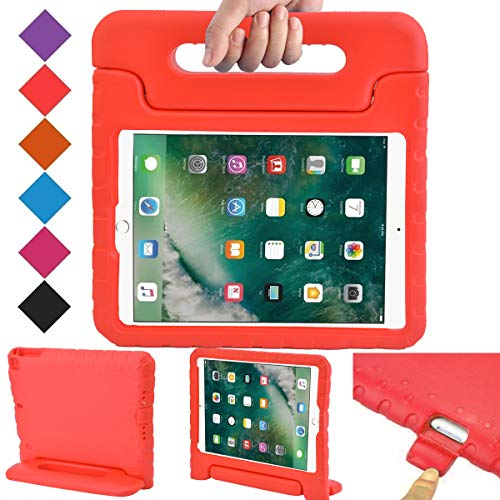 BMOUO Case for New iPad 9.7 Inch 2018/2017 - Shockproof Case Light Weight Kids Case Cover Handle Stand Case for iPad 9.7 Inch 2017/2018 New Model - - Case Apple Ipad Red
