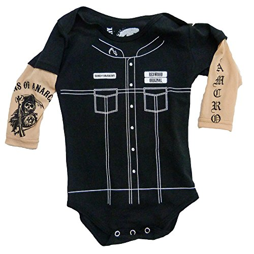 SOA Sons of Anarchy Vertical Reaper Infant Baby Romper Snapsuit (6-12 Months)