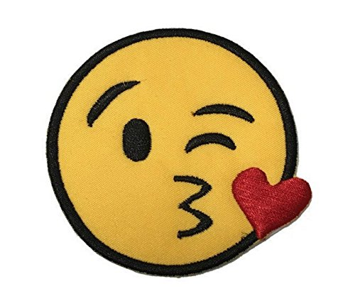 Melie Bianco Applique - Melie Bianco Kiss Emoji Embroidered Patch Sticker Applique