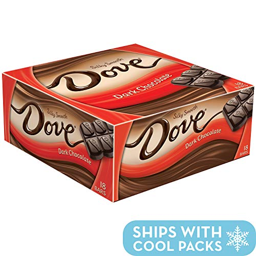 - Dove Dark Chocolate Singles Size Candy Bar 1.44-Ounce Bar 18-Count Box