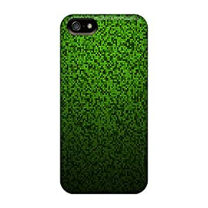 Iphone High Quality Tpu Case/ Pixel Pattern Green ECqJRAD1040ngyMm Case Cover For Iphone 5/5s