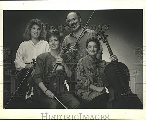 (1991 Press Photo Lydian String Quartet members pose for photo -)
