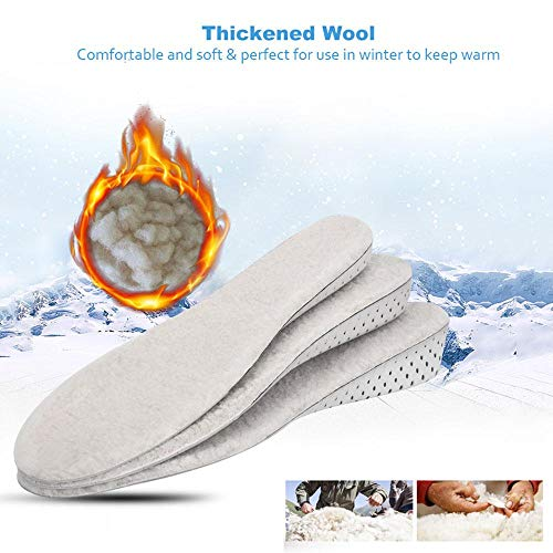 bianche di per pecora lana scarpe vera 2cm Aolvo spessa polare naturale fodera donna le tutte pelle Solette in zaq8xag