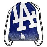 MLB Baseball Team Logo Drawstring Backpack Bag - Pick Team (Los Angeles Dodgers)