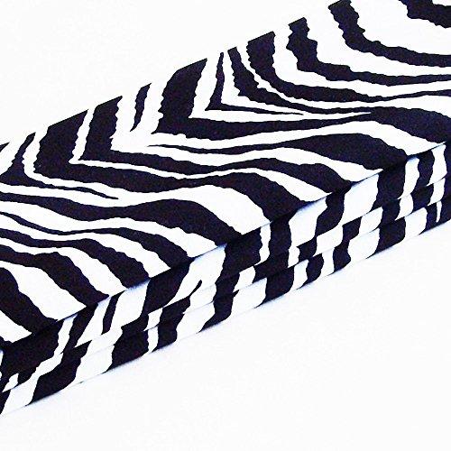 Bold Zebra Cotton Napkins (Set of 4) ME2Designs Handmade Table Decor