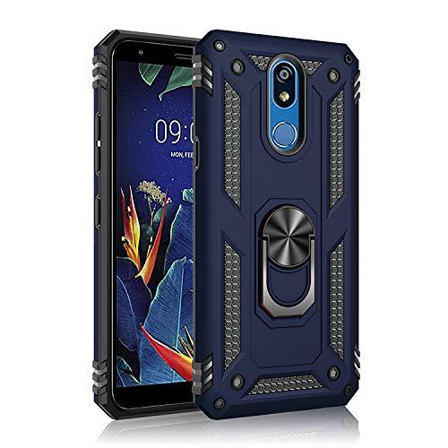 BestST Funda LG K50//LG Q60 con Anillo Soporte Robusta Carcasa H/íbrida TPU PC de Doble Capa Anti-ara/ñazos Caso para LG K50//LG Q60,-Azul con HD Protector de Pantalla