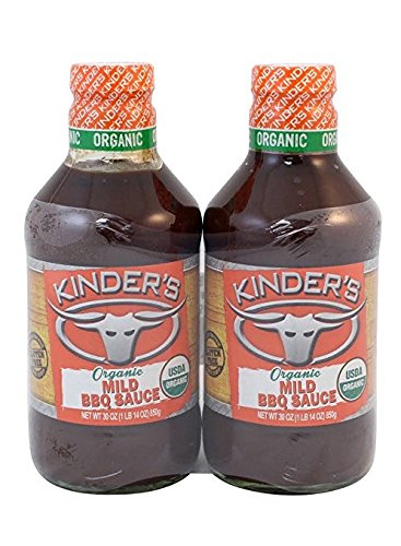 Kinder's Organic Mild BBQ Sauce 30 oz Pack of 2 (Barbeque Sauce Mild)