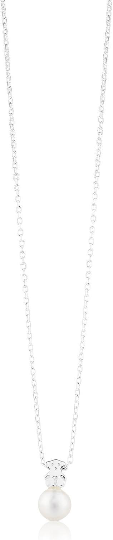 Collar TOUS Sweet Dolls en plata de primera ley y perlas cultivadas de 0,8 cm.