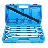 8milelake MERCEDES BENZ BMW Fan Clutch Holder Water Pump Wrench Tool Set 32 36 38 40 65mm