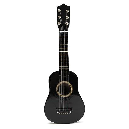 TOYMYTOY 21 pulgadas Guitarra acustica Pequeña guitarra de madera para niños infantil principiantes (Negro)