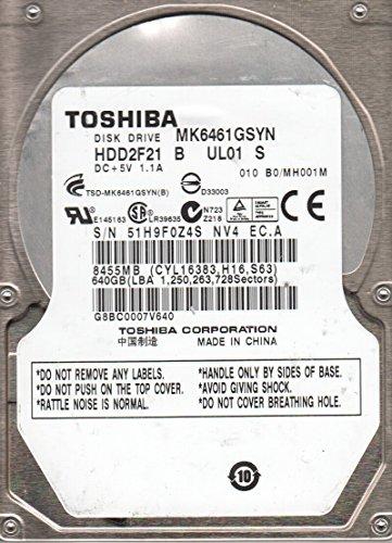 MK6461GSYN MH001M HDD2F21 Toshiba 640GB