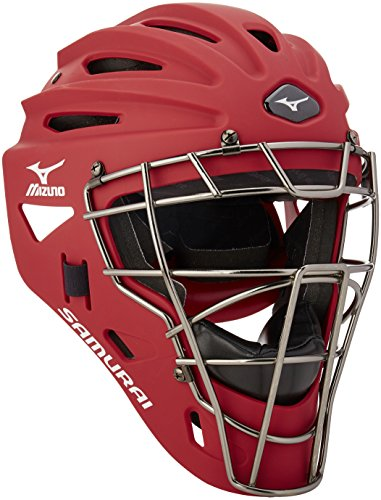 Mizuno Youth G4 Samurai Catcher's Helmet, Red