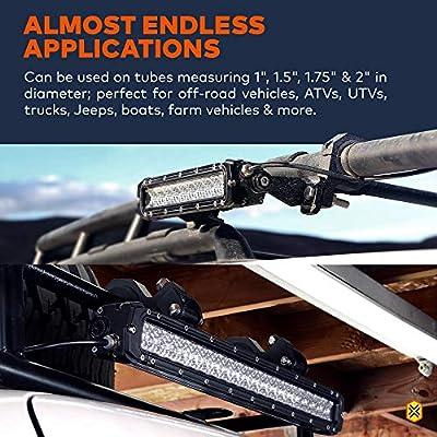 Off-Road ATV UTV Light Bar Mounts Mounting Bracket Bar Clamp Kits [1
