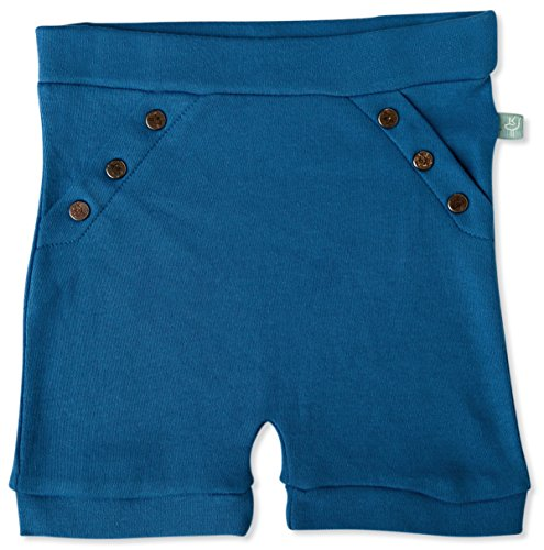 Finn + Emma Organic Cotton Shorts for Baby Boy or Girl – Delft Blue, 9-12 Months by Finn + Emma