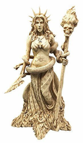 White Sorceress Witchcraft Hecate Figurine Hekate Necromancy Deity Magic Powerful Pagan Witch ()