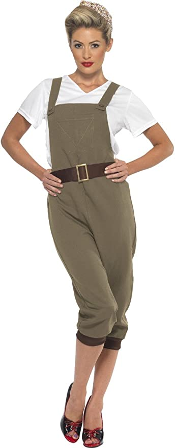 1940s Costumes- WWII, Nurse, Pinup, Rosie the Riveter Smiffys WW2 Land Girl Costume £17.99 AT vintagedancer.com