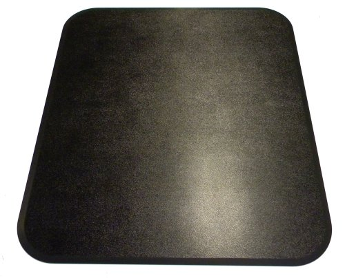 Black Chair Mat - 42 x 46 Rectanglular Chair Mat - ABS-RC-4246 by Spectrum