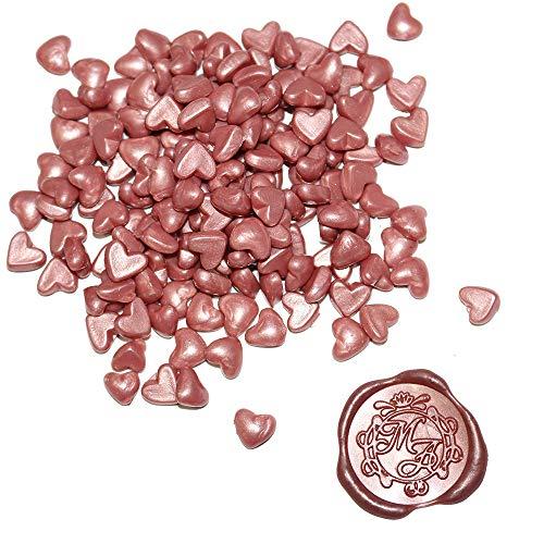 (Rose Gold Sealing Wax Beads - 160 Wax Seal Beads Per Pack - Sealing Wax Beads for Seals - 100% USA Ingredients (Rose Gold Wax Beads))
