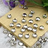 JASSINS 100pcs 7MM ANTIQUE Silver Round Dome Metal Studs Spots Nailheads Fastners