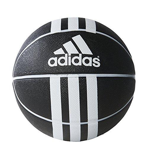 adidas Performance 3-Stripes X Basketball, Black/White, Size 7