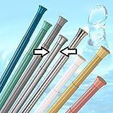 Cortina de ducha barra 190-300 cm plata mate ducha extra larga eje pinza varilla primavera de ducha barra extra largo