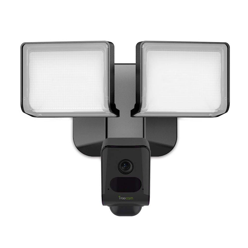 FREECAM Floodlight CamホームセキュリティカメラHD 1080P広角モーションセンサーナイトビジョンでアラームプッシュ(L810 ブラック) B07B6566YR ブラック ブラック