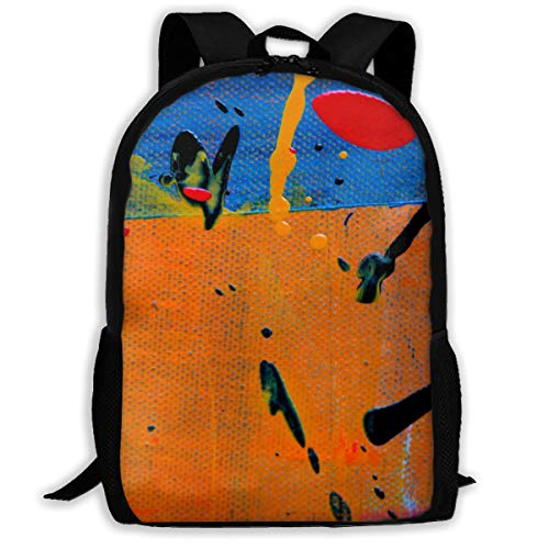 Abstract Expressionism Paintings - Gedacw Abstract-Abstract-Expressionism-Abstract-Painting Adult Full-Length Printed Backpack 6.3