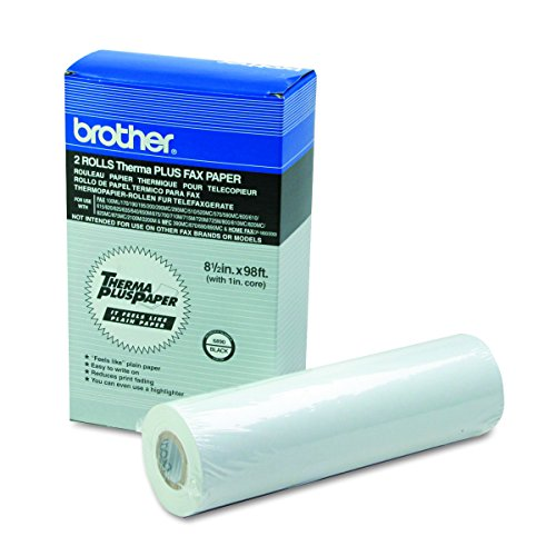 Thermal Fax Paper - Brother 8.5in X 98ft 2-rolls Thermal Plus Fax Paper for Mfc-390mc - Retail Packaging