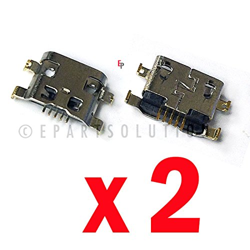 ePartSolution_2 X Alcatel One Touch Fierce XL 5054N USB Charger Charging Port Dock Connector USB Port Repair Part USA Seller (Alcatel Fierce One Parts Touch)
