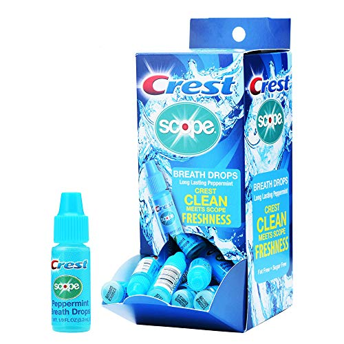 - Crest Scope Breath Drops - Long Lasting PEPPERMINT - Gravity Feed Display - 50 count, 3.2mL Dr