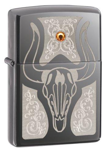 Zippo Lighter Bull - Zippo Western Bull Skull Lighter