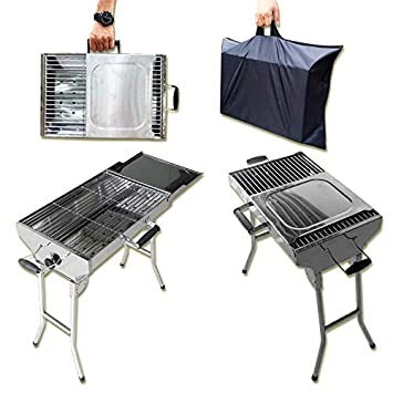 BBQ Schaschlikgrill Klappgrill Faltgrill Standgrill Koffer Grill Camping Party