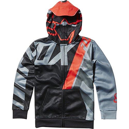 Fox Racing Youth Boys Eskridge Fleece Hoody Zip Sweatshirt X-Large Black Fox Youth Sweatshirt