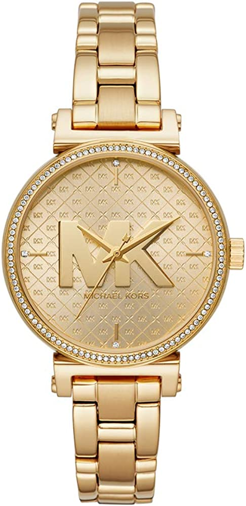 Michael Kors Women s Sofie Quartz Watch with Stainless-Steel-Plated Strap, Gold, 14 Model MK4334