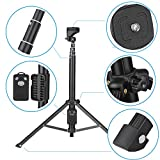 Eocean Selfie Stick Tripod, 54 Inch Adjustable iPhone Tripod, Extendable Camera Tripod for Cellphone and Camera, with Wireless Remote for iPhone 8/8 Plus/X/7/7 Plus/Galaxy/Google