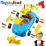 Megatoybrand Take Apart Toy Racing Car – Construction Toy Kit For Kids – Build Your Own Car Kit – 30 Take Apart Pieces With Realistic Sounds & Lights