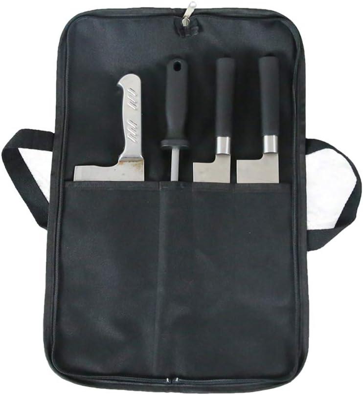 Utility HGJ17-L - Funda para cuchillos de cocina (4 bolsillos), diseño de cocinero