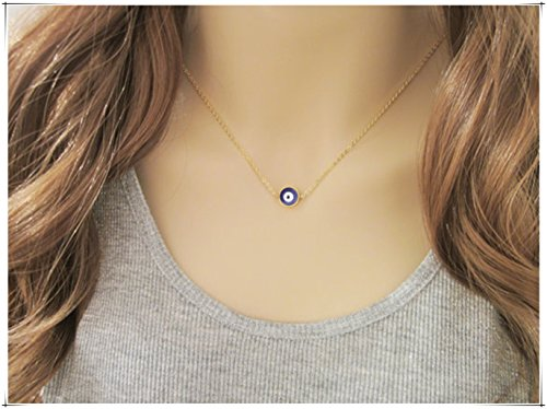 sea-maiden Evil Eye Jewelry / Protection Jewellery / Mini Evil Eye Necklace /Gift for Her / Turkish Nazar Jewelry