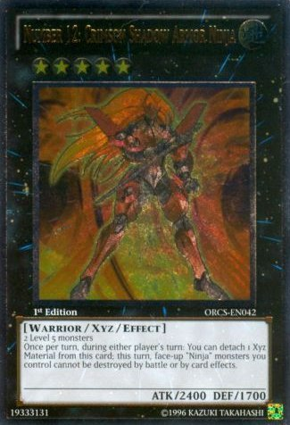 Yu-Gi-Oh! - Number 12: Crimson Shadow Armor Ninja (ORCS-EN042) - Order of Chaos - Unlimited Edition - Ultimate Rare