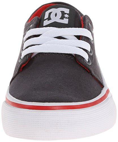 DC Shoes Trase Tx - Zapatillas de deporte de canvas para niño gris - Grau (DK SHADOW/WHITE/ATHLETIC RED- DWA)