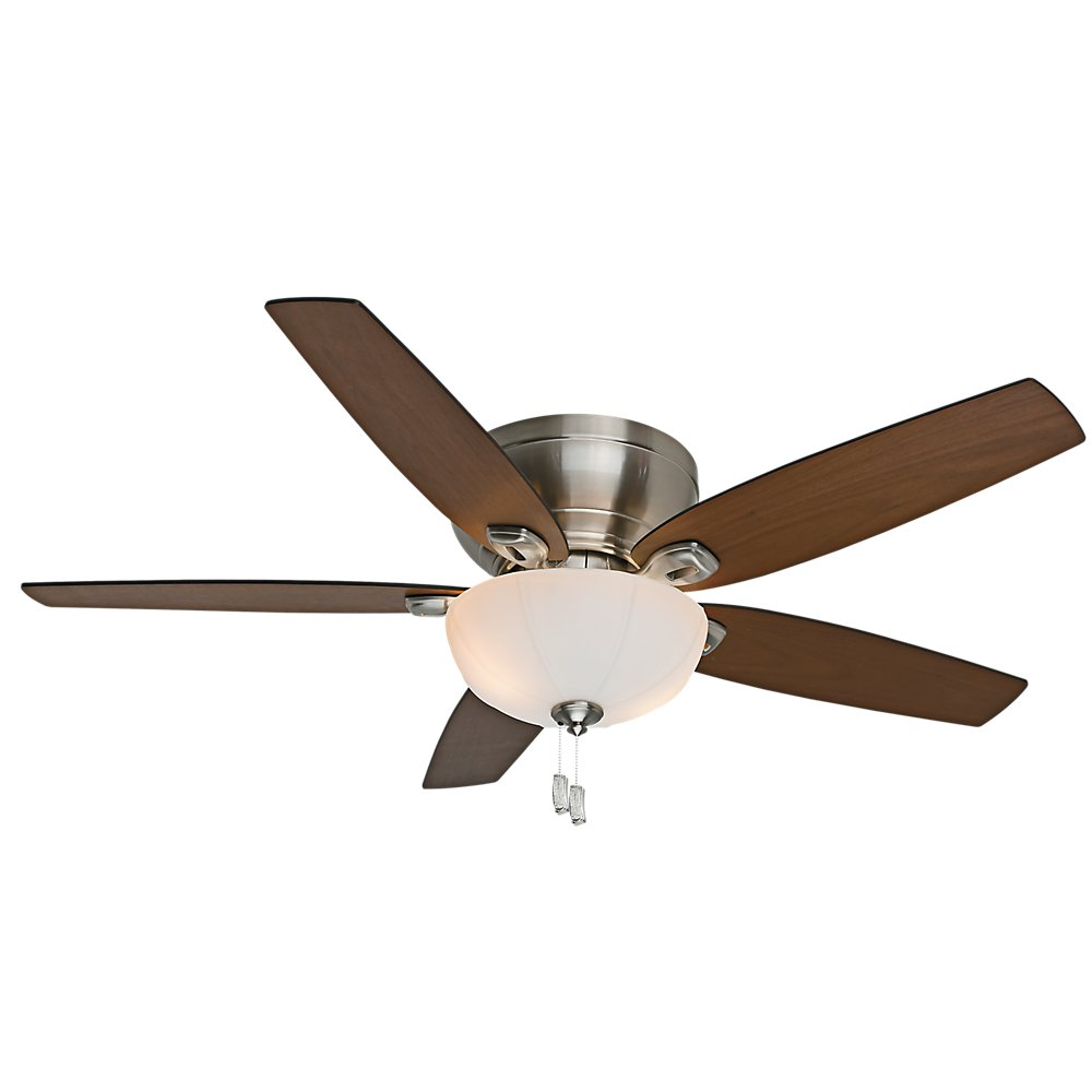 Casablanca fan company 54101 durant 54 inch brushed nickel ceiling casablanca fan company 54101 durant 54 inch brushed nickel ceiling fan with five walnutburnt walnut blades with light kit amazon audiocablefo