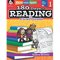 180 Days of Reading for First Grade (Ages 5 - 7) Easy-to-Use First Grade Workbook to Improve Reading Comprehension Quickly, Fun Daily Phonics Practice for 1st Grade Reading