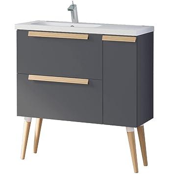 AuBergewohnlich Randalco 81,3 Cm Nordic Moderne Badezimmer Unterschrank Set | Dunkel Grau |  81,