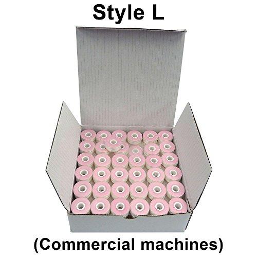 Polyester Prewound Bobbins (SuperB Prewound Bobbins White Style L (Small) Polyester Pre-Wound Bobbins Thread, Box of 144)