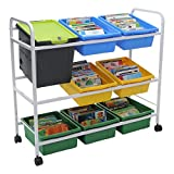 Book Browser Cart w/ One Basic Tech Tub