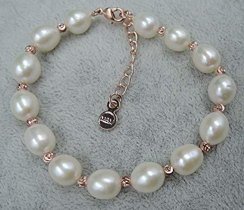 (Gabcus Pearl Bracelet,100% Nature Freshwater Pearl Bracelet-AAAA Pearl Grade)
