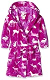 Hatley Girls' Little Boys' Fuzzy Fleece Robe, Deers and Bunnies, S